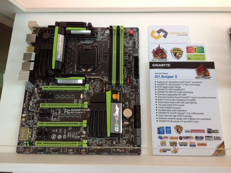 Computex: Gigabyte Shows Off G1. Sniper 5 and M5 Z87 Motherboards 1