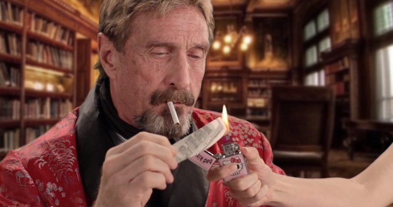 John McAfee is the eccentric founder of the McAfee virus software who has been divorced from the product he founded for about 15 years. - john-mcafee