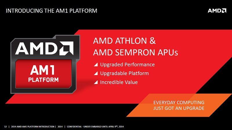 Nuevos procesadores AMD AM1