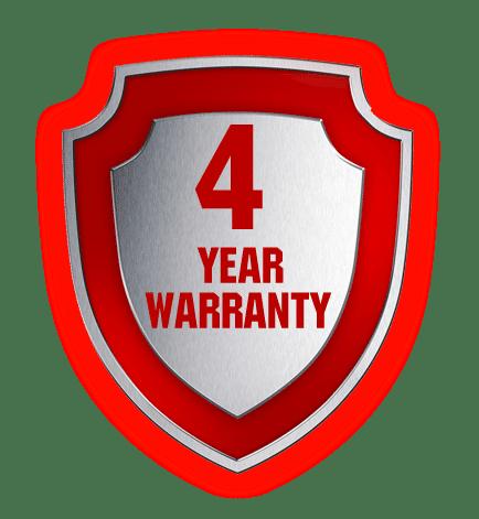 Extended Warranty Logo 4 Year Warranty Logo