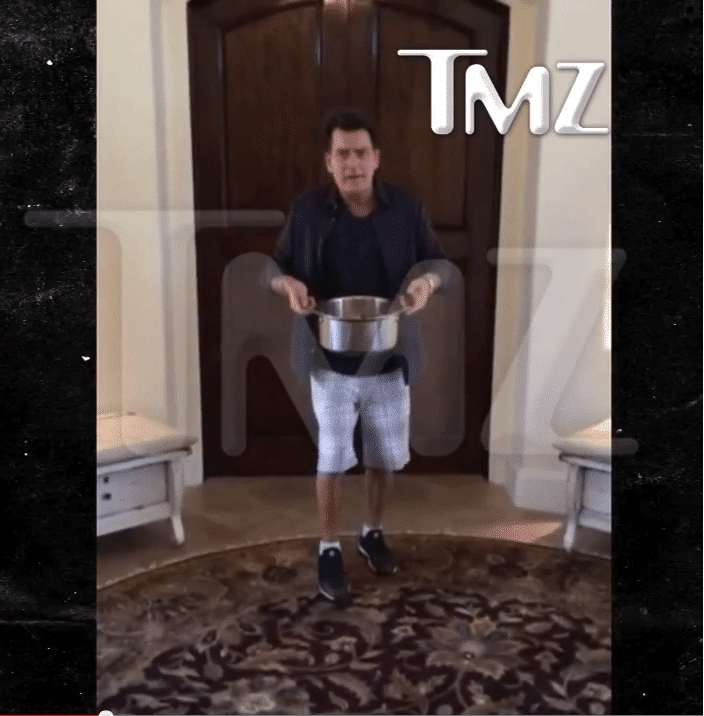 Charlie Sheen does the Ice Bucket Challenge and Its Brilliant.