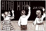 free vintage digital stamp_school children