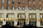 General views of workmen affixing a Google sign to the exterior of the Google building on 8th Avenue and 16th Street in New York City  Pictured: Google Ref: SPL460870  181112   Picture by: Christopher Peterson/Splash News  Splash News and Pictures Los Angeles: 310-821-2666 New York: 212-619-2666 London: 870-934-2666 photodesk@splashnews.com