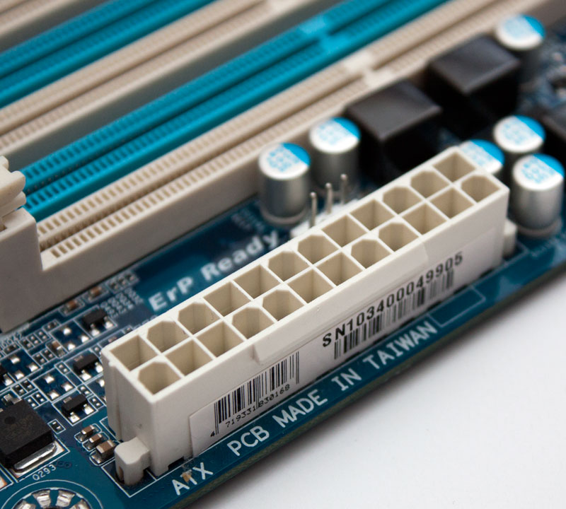 how to put power supply on mobo
