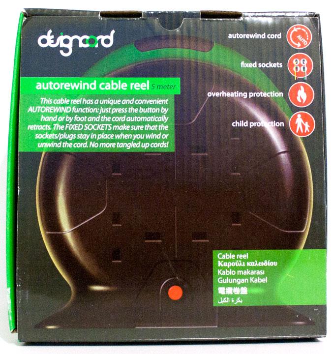 Designcord 5 Metre Autorewind Cable Reel Extension Lead