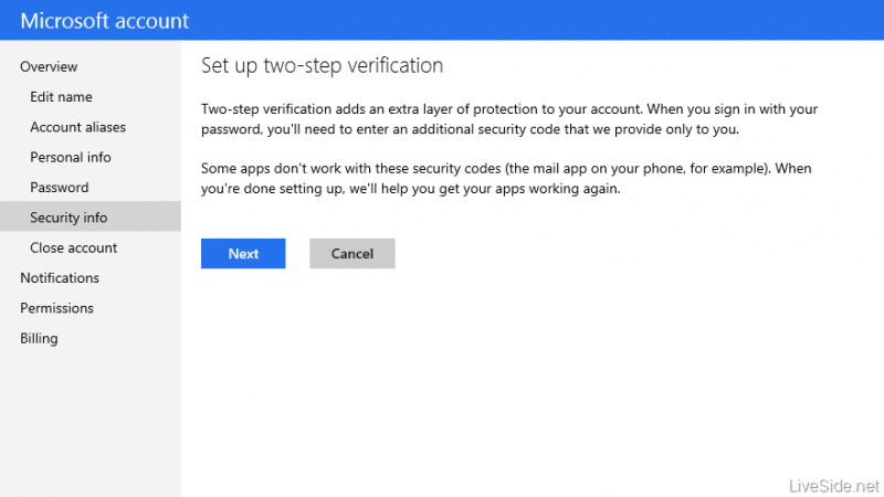 Microsoft account Two factor authentication e1365566556299