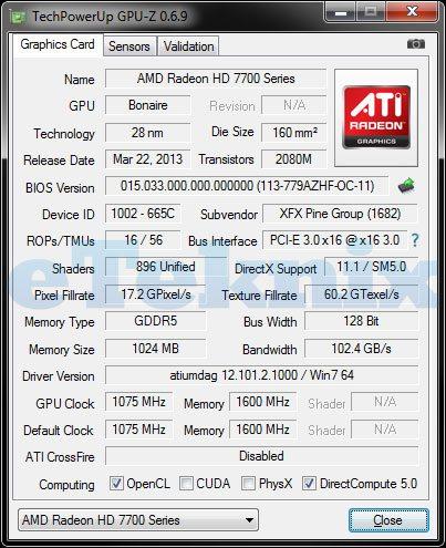 XFX7790BE GPU