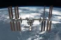 800px STS 134 International Space Station after undocking