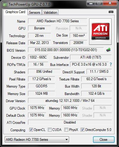 HIS7790 GPUz