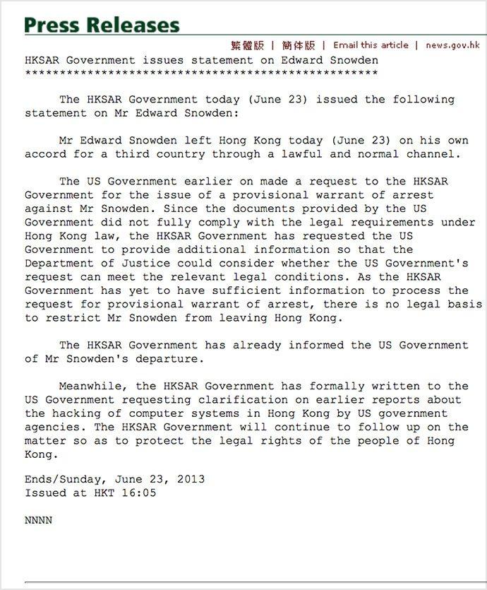snowden_Hong_kong_extradition_statement_response#