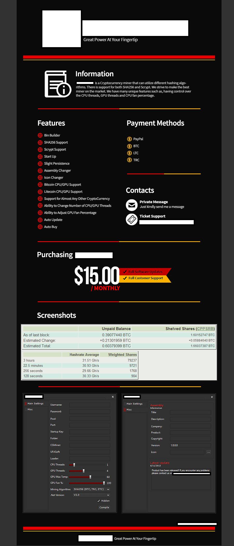 subscription malware mining tool