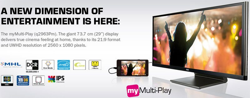 "AOC Q2963PM 29"" UWHD MyMulti-Play AH-IPS"