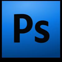 photoshop logo black text