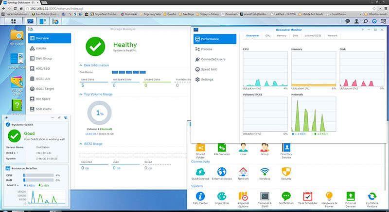 Synology_DS1513+_GUI