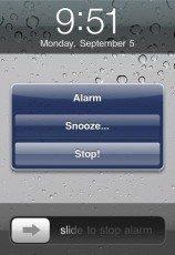 snoozeorstop iphone