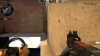 37634 10 gamer uses a steering wheel to play counter strike full
