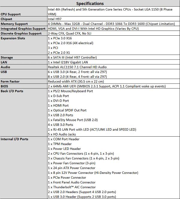 ASRock_Fatal1ty_H97_Performance _Specs