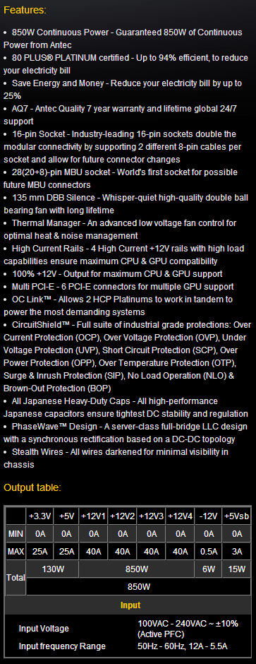 antec_HCP_850_features and specs