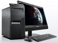 lenovo desktop tower thinkcentre m83 front with monitor