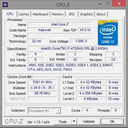 P34W v3 CPU-Z