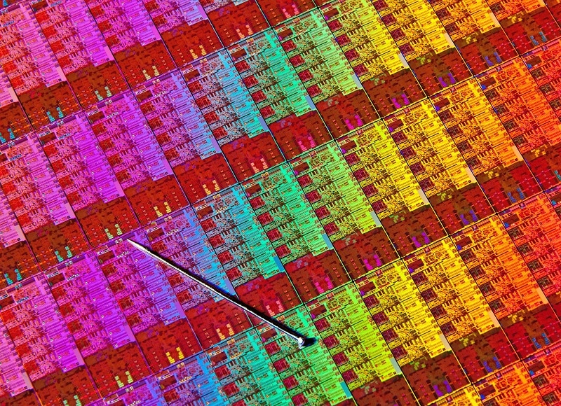 Intel CPU Haswell Die Wafer