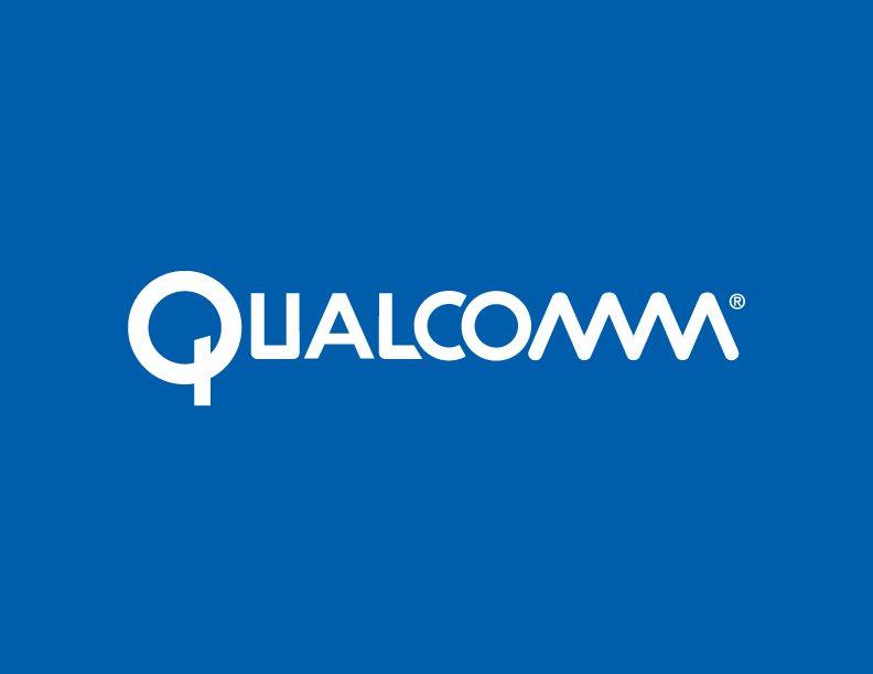 Qualcomm White on Blue Logo