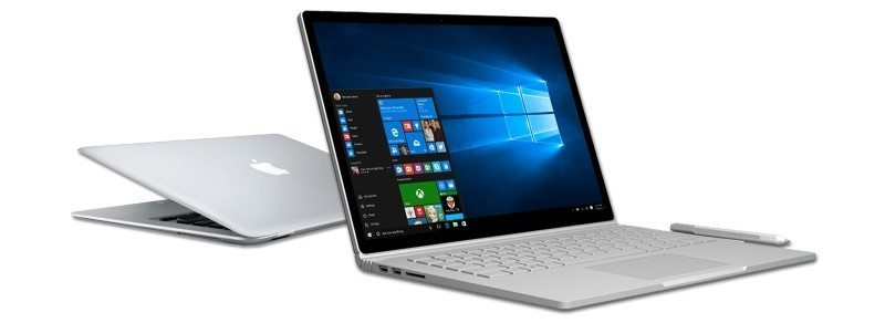 Surface Book and Macbook