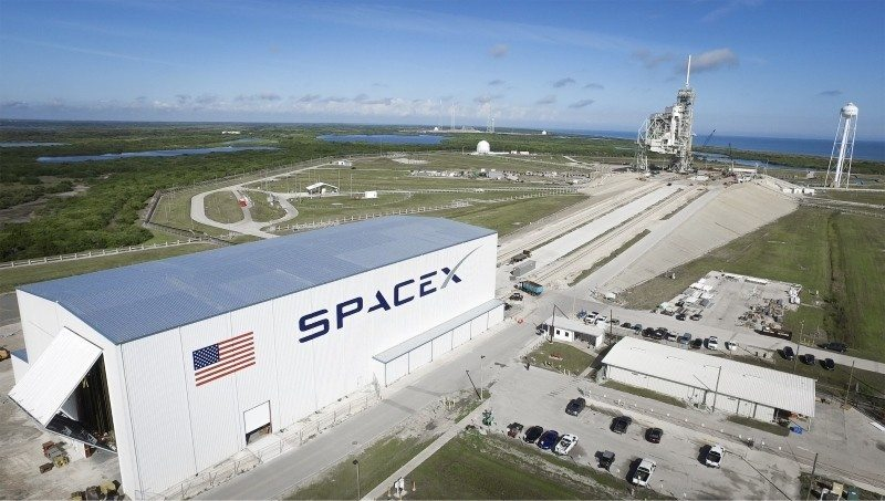 SpaceX facilities at the Kennedy Space Center