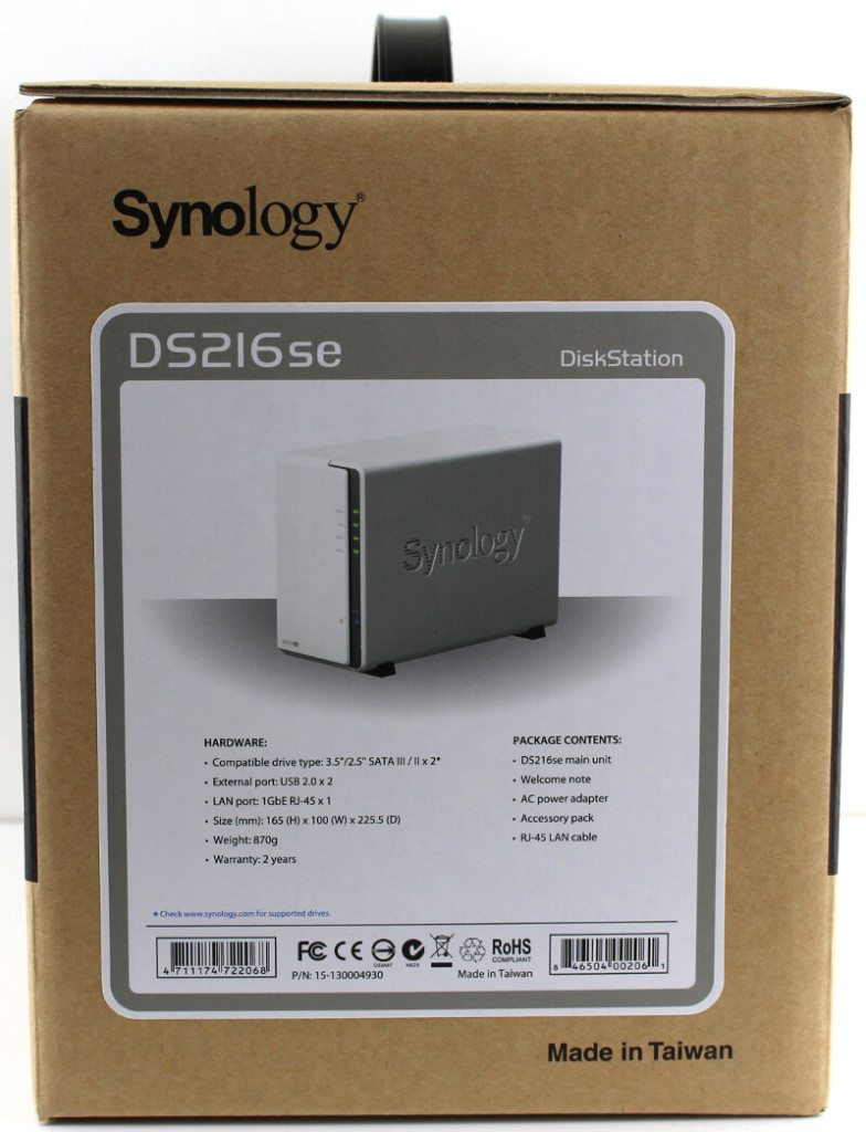 Synology_DS216se-Photo-box side