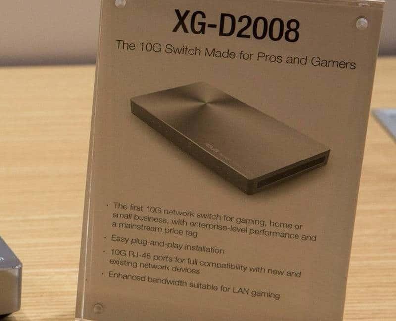 asus XG-D2008 10-Gigabit switch info