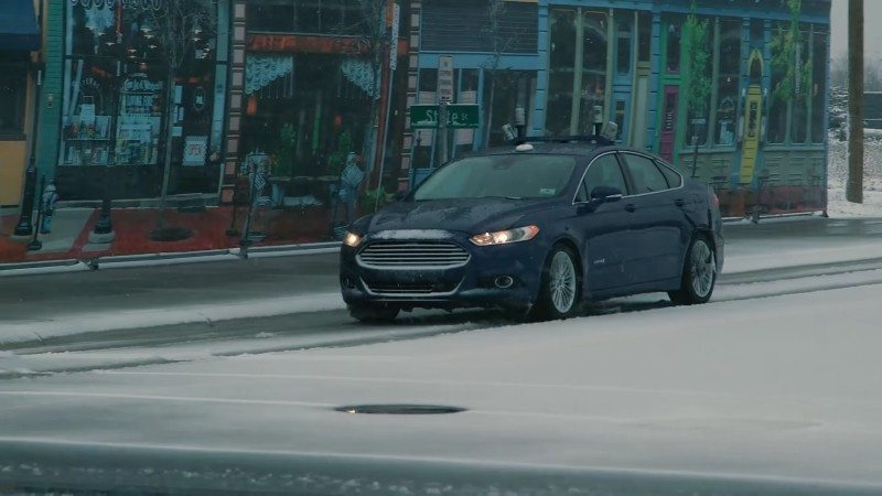 Snowtonomy allows Ford to drive their autonomous car in snow