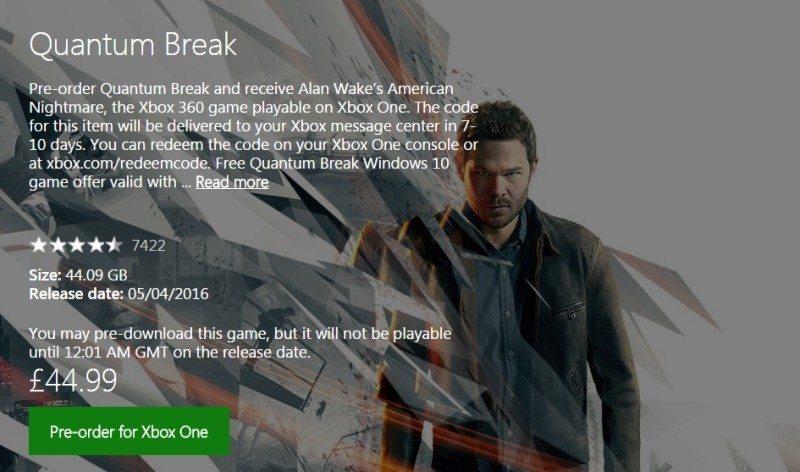 quantum break xbox