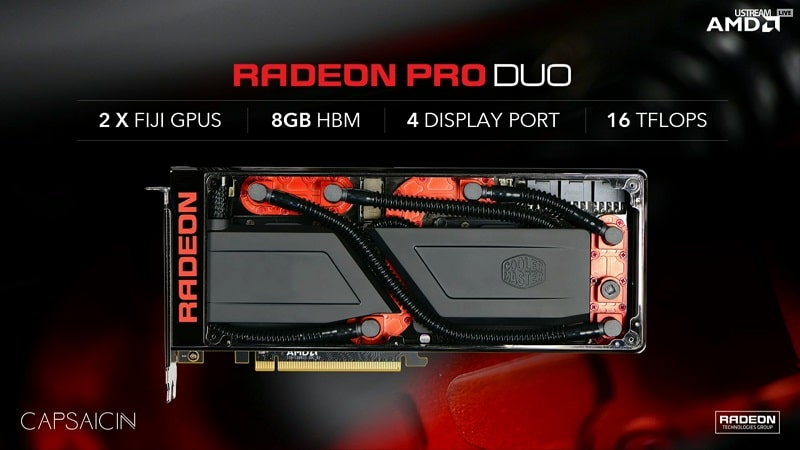 AMD Radeon Pro Duo Launches April 26th