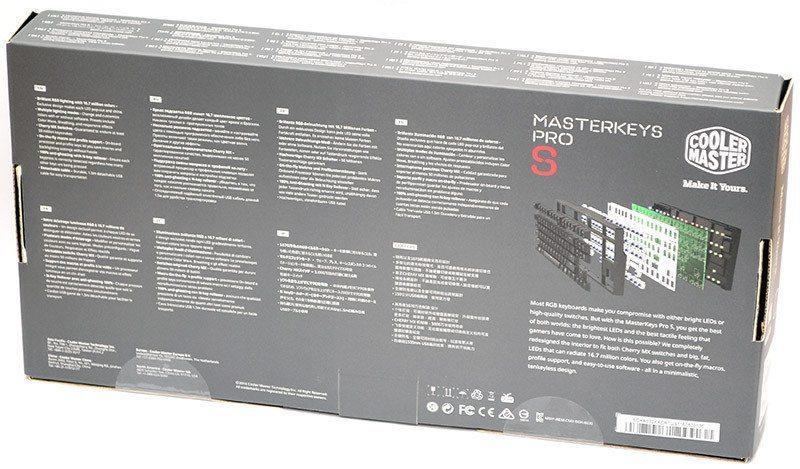 Cooler Master Masterkeys Pro S box back