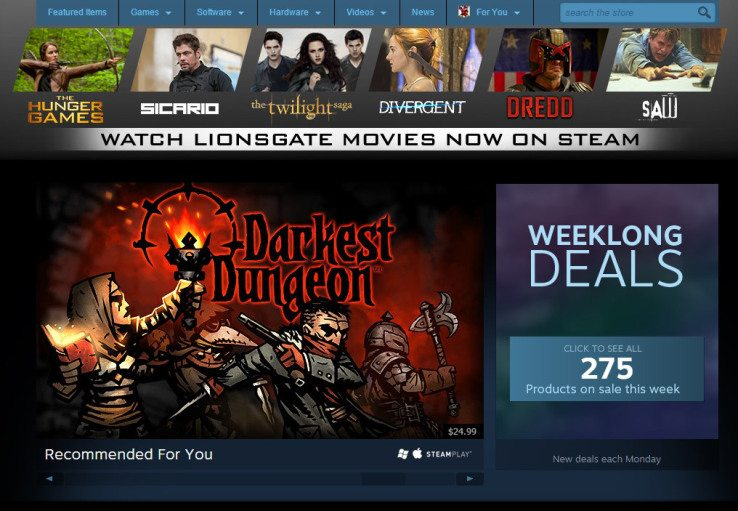 Steam Welcomes Lionsgate - Over 100 Movies Added to Steam