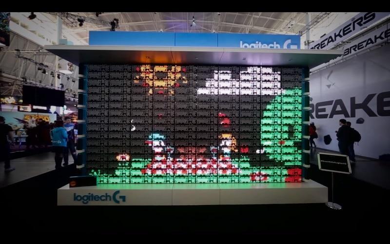 Logitech Creates Epic Display Using 160 Gaming Keyboards!