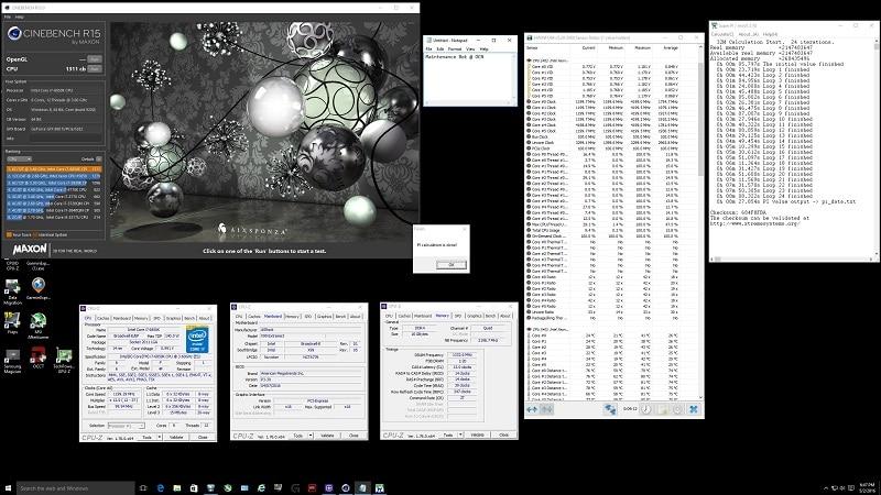 Intel i7 6850K Cinebench R15