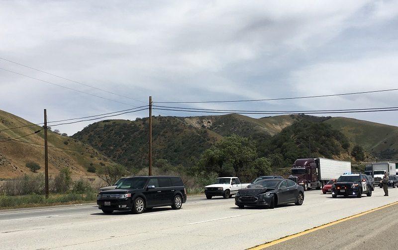 self driving tesla accident