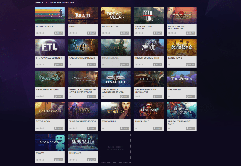 GOG Connect offers free copies of your Steam Games