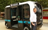 This 3D Printed Electric Bus Can Drive Itself