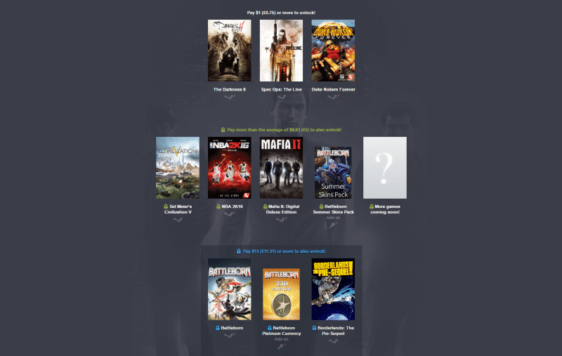 2K's Humble Bundle Joins the Fray