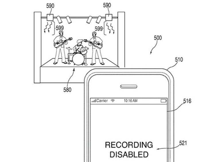 Apple could disable cameras at your next concert