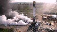 SpaceX test firing