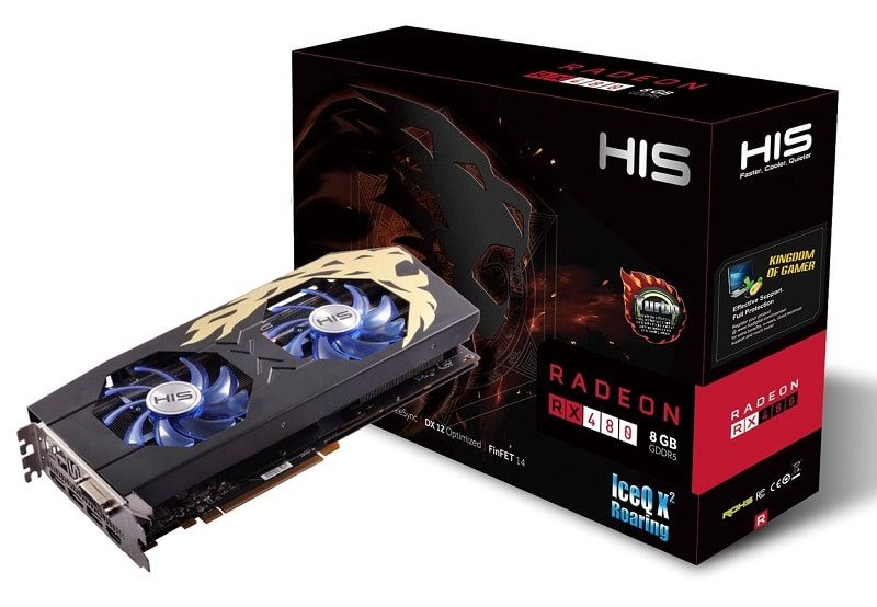 HIS RX 480 IceQX2 Roaring 1
