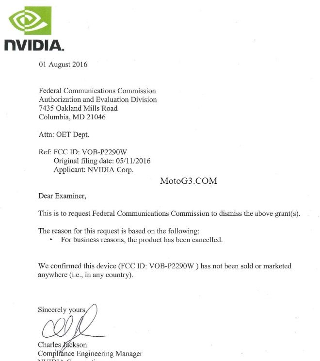 nvidia shield letter