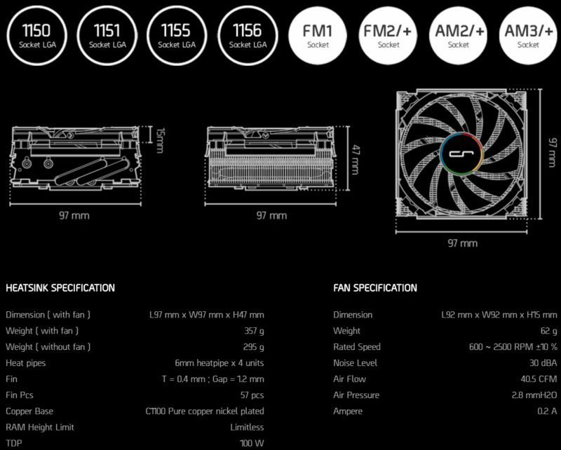 cryorig-c7-specifications