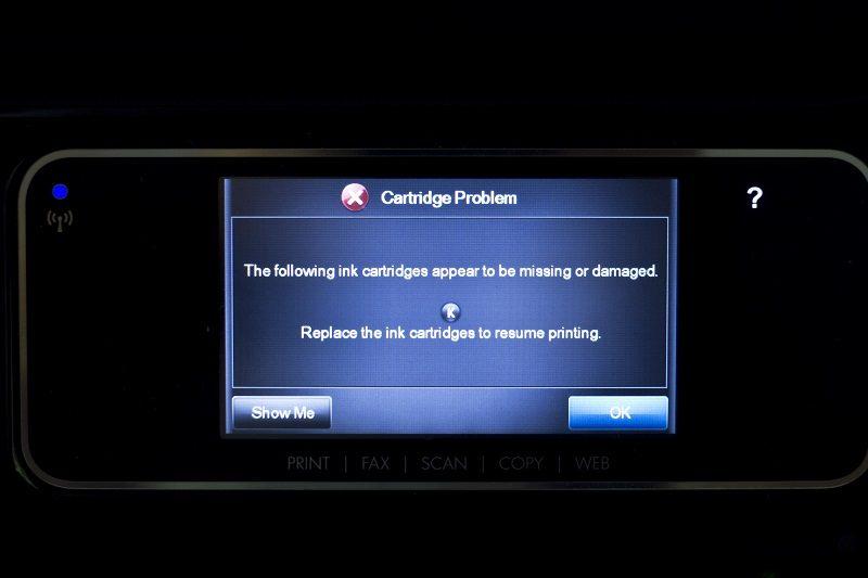 HP Pre-Programmed Third-Party Printer Cartridge Failure Date