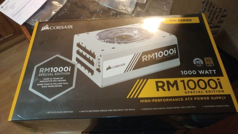 Corsair RM1000i Special Edition PSU Appears on eBay