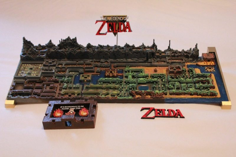 Fan 3D-Prints Original Zelda Map