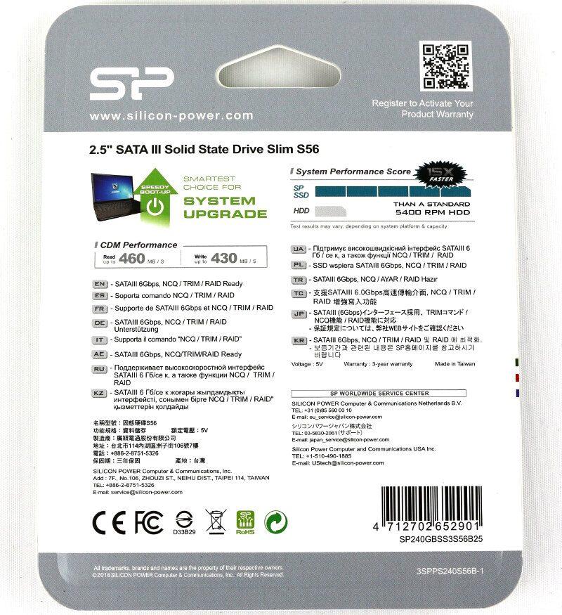Silicon Power S56 Photo box rear